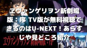 ヱヴァンゲリヲン新劇場版:序 TV版が無料視聴できるのはU-NEXT!あらすじや見どころ紹介